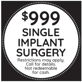 Single Dental Implant Surgery