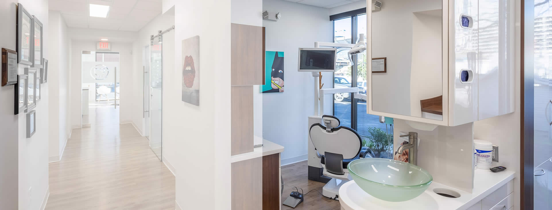 exam room at best dentist office in Charlotte NC